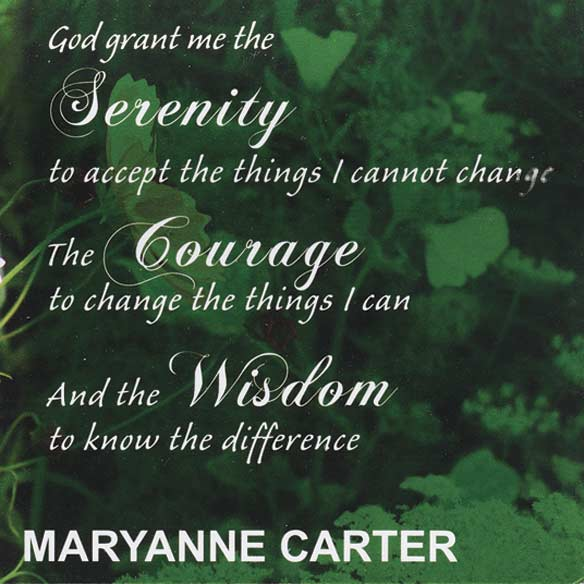 Personalized Serenity Prayer 2 Year Planner