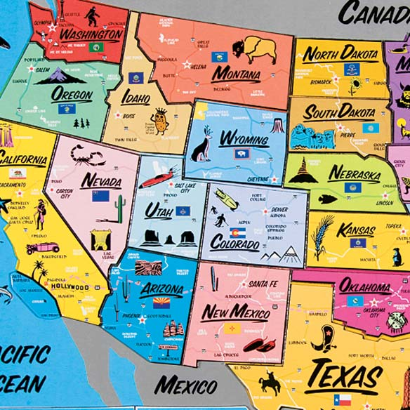 USA Magnetic Puzzle Map - View 2