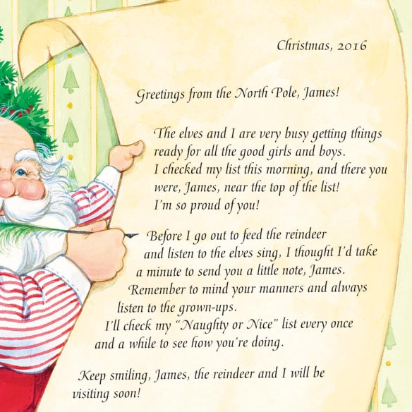 Personalized Santa's Nice List Certificate - View 2