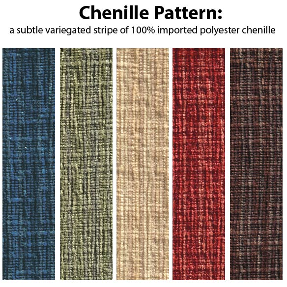 Chenille High Back Rocking Chair Cushions - View 2