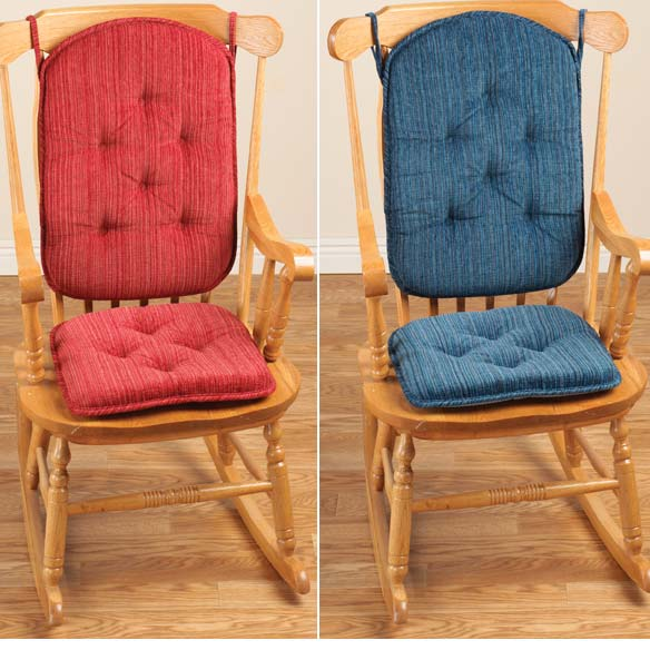 Chenille High Back Rocking Chair Cushions - View 4
