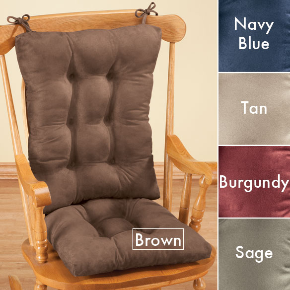 Microfiber Rocking Chair Pads - View 2