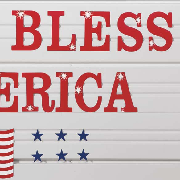 Patriotic Garage Door Magnet Set - View 3