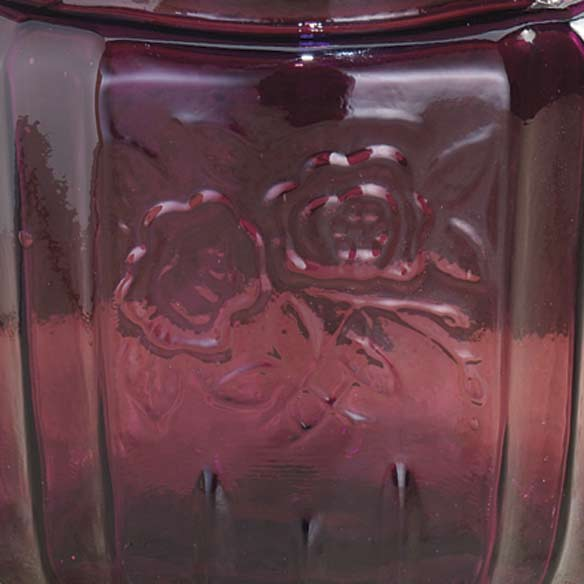 Amethyst Depression Style Glass Biscuit Jar - View 3