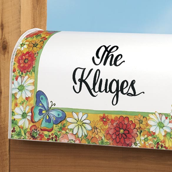 Personalized Bright Flower Mailbox Cover - View 2