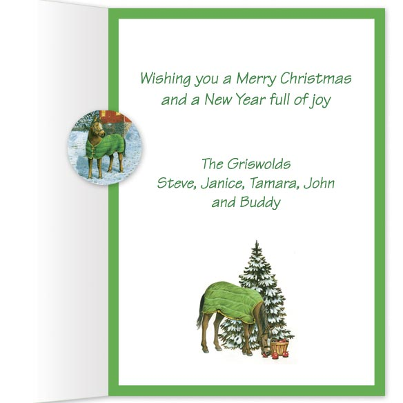Holiday Horse and Stable Christmas Card Set/20