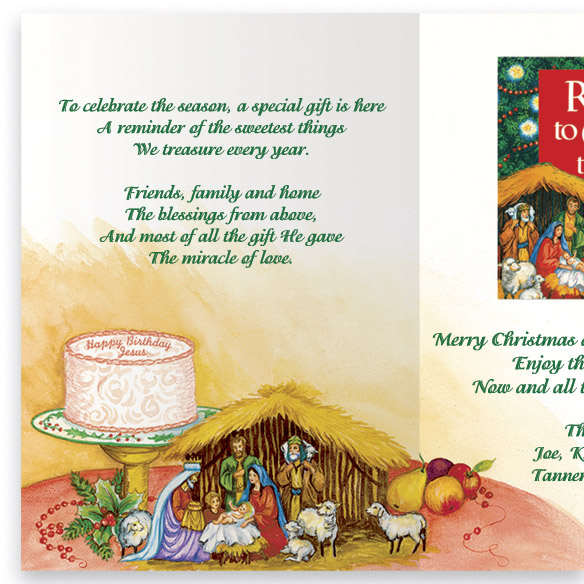 Personalized Recipes Of Christmas Card Set - View 3