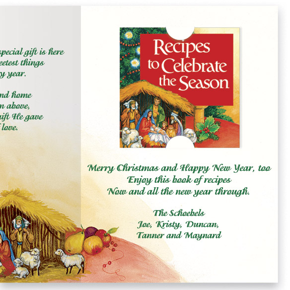Personalized Recipes Of Christmas Card Set - View 4