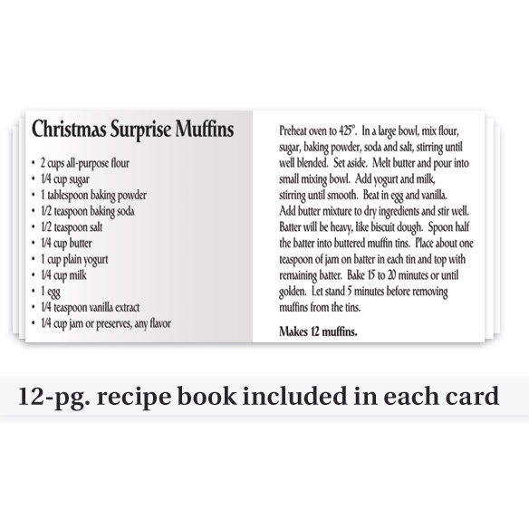 Personalized Recipes Of Christmas Card Set - View 5