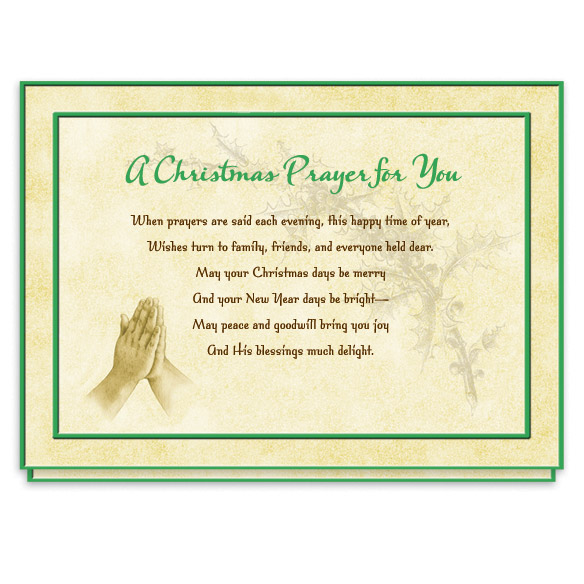 Christmas Prayer Card Set - View 2