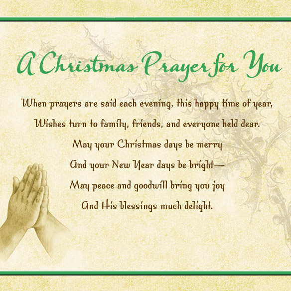 Christmas Prayer Card Set - View 4