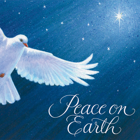 Dove of Peace Christmas Verse Christmas Card Set of 20 - View 4