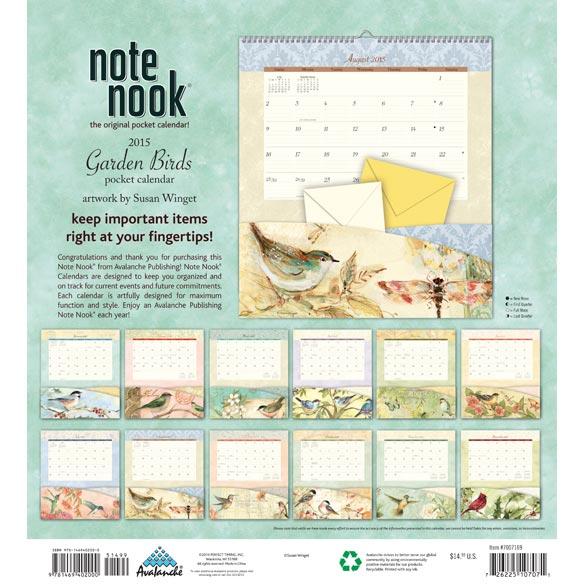 Birds 12 Pocket Wall Calendar - View 2
