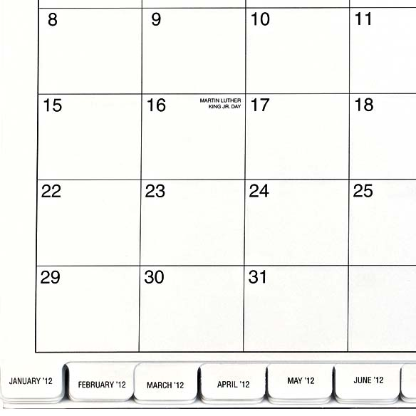 3 Year Calendar 2012-2014 - View 3