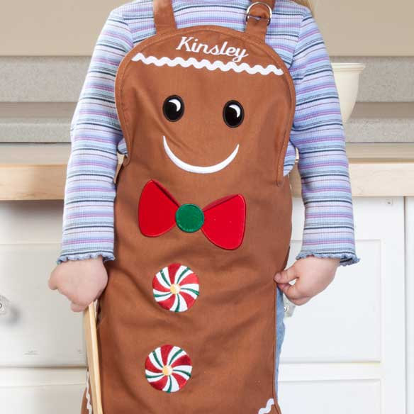 Personalized Kids Gingerbread Apron - View 2