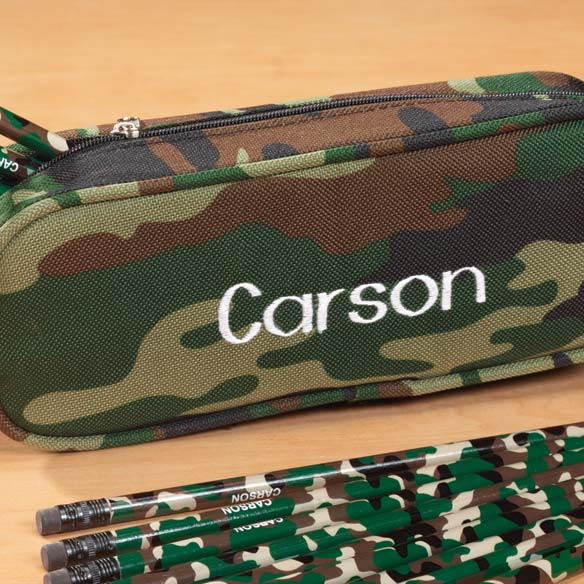 Personalized Camouflage Pencil Case - View 2