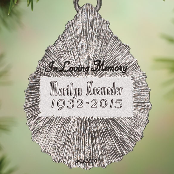 Personalized Memorial Ornament - View 2