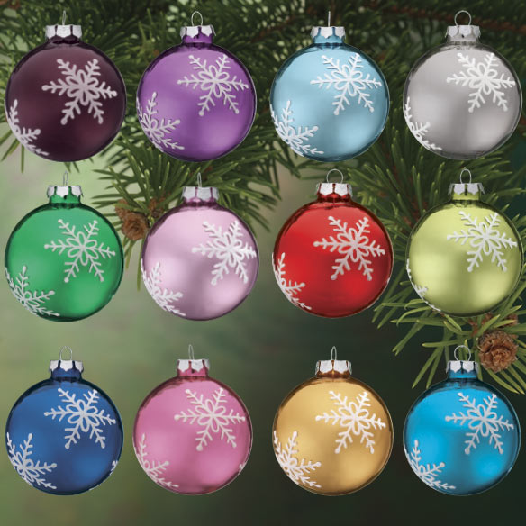 Personalized Birthstone Glass Ball Ornament - View 3