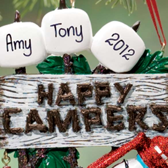 Personalized 3 Happy Campers Ornament