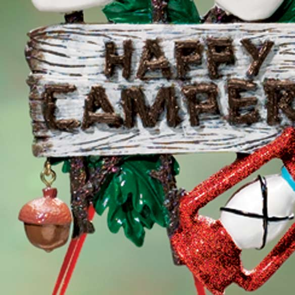 Personalized 3 Happy Campers Ornament - View 3