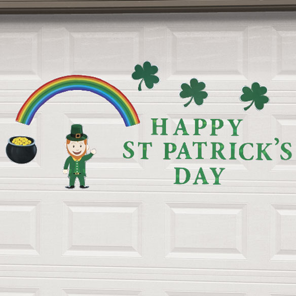 St. Patrick's Day Garage Door Magnet Set