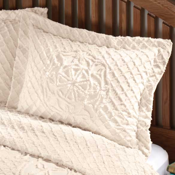 The Martha Chenille Bedspread Sham - View 5