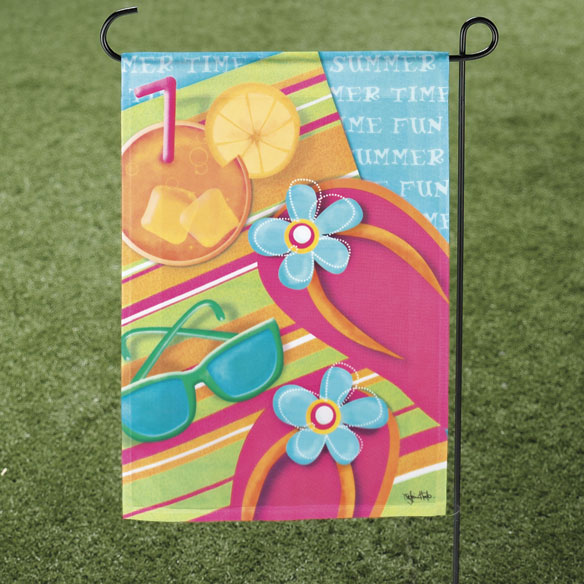 Pool Party Garden Flag & Mailbox Cover