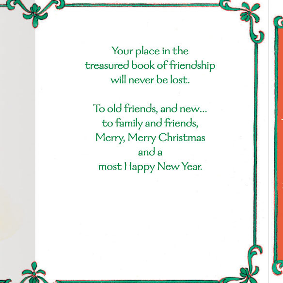Book of Friendship Christmas Card Set of 20 - View 3