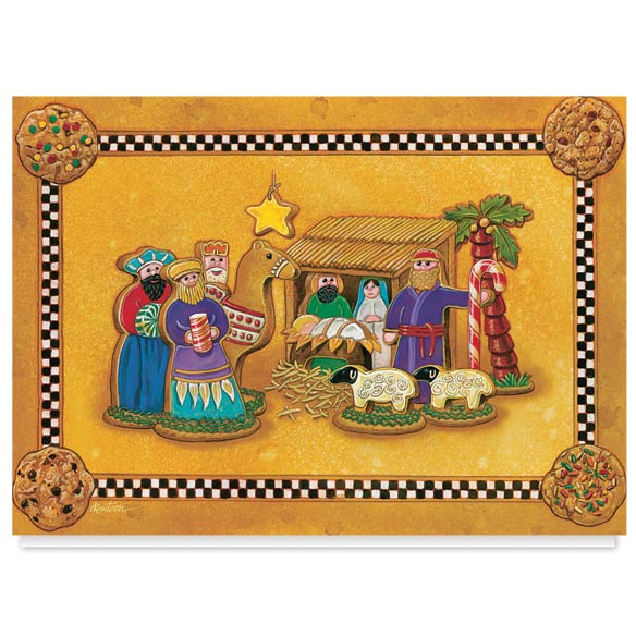 Gingerbread Nativity Christmas Card Set of 20