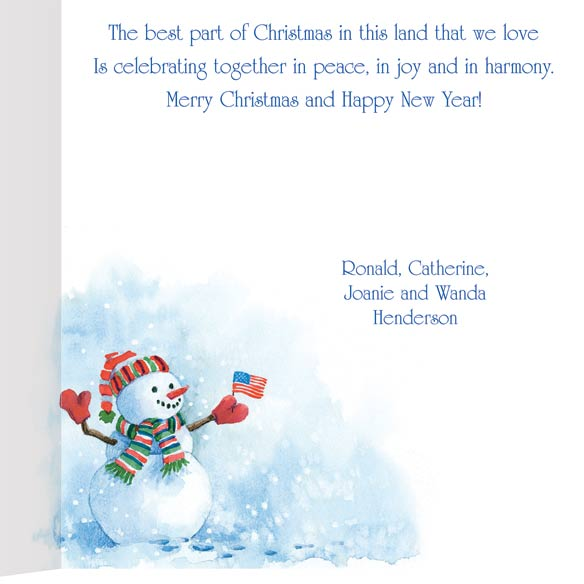 American Snowman Christmas Card Set of 20 - View 3