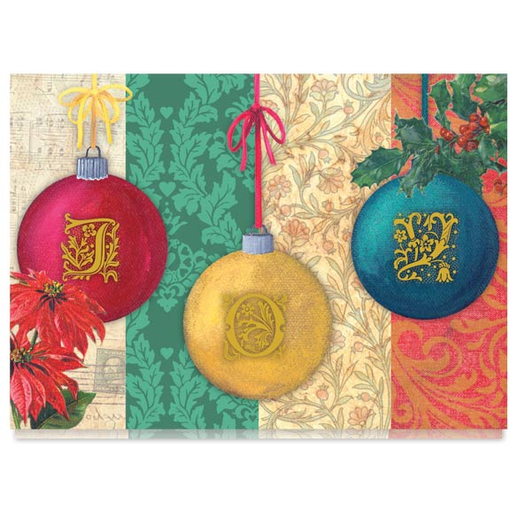 Monogram Ornament Christmas Card Set of 20 - View 2