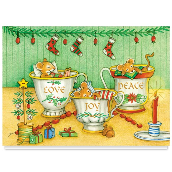 Christmas Mice Christmas Card Set of 20 - View 2