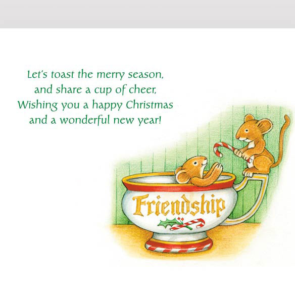 Christmas Mice Christmas Card Set of 20 - View 3