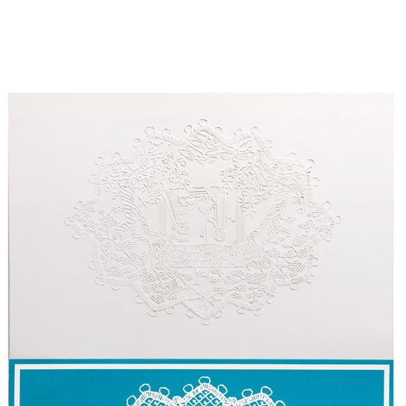 Lace Nativity Christmas Card Set of 20 - View 3