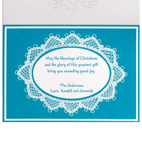 Lace Nativity Christmas Card Set of 20 - View 4