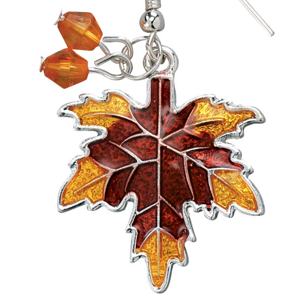 Autumn Leaf Earrings - View 2