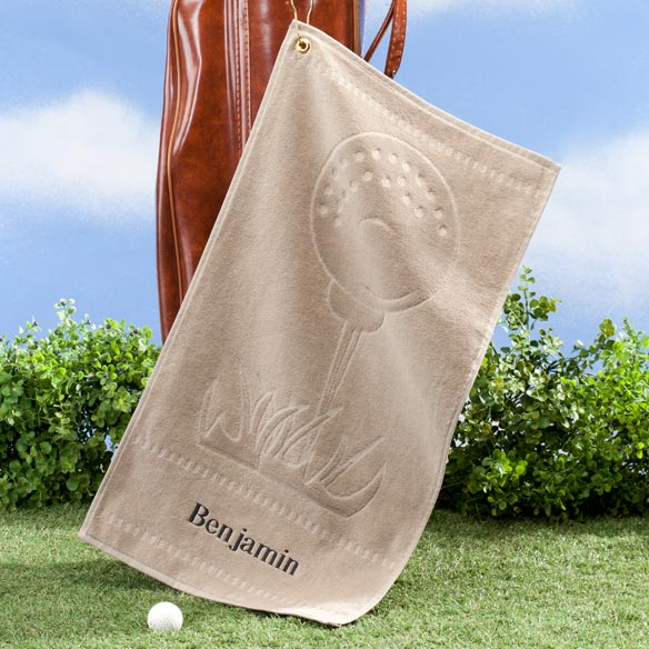 Personalized Golf Ball Towel - View 2