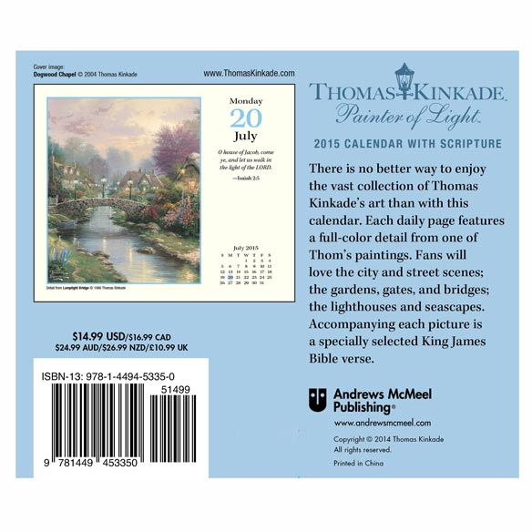 Thomas Kinkade 365 Scripture Desk Calendar - View 2