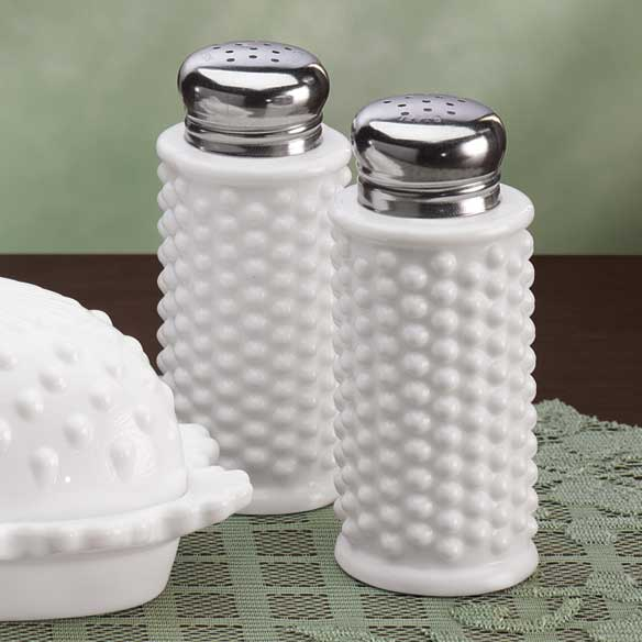White Hobnail Depression Style Glass Butter Dish - View 3