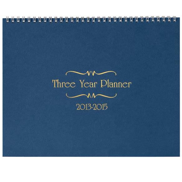 3 Year Calendar Diary 2013-2015 - View 2