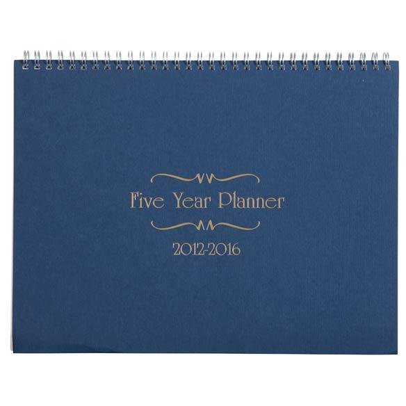 5 Year Calendar Diary 2012-2016 - View 2