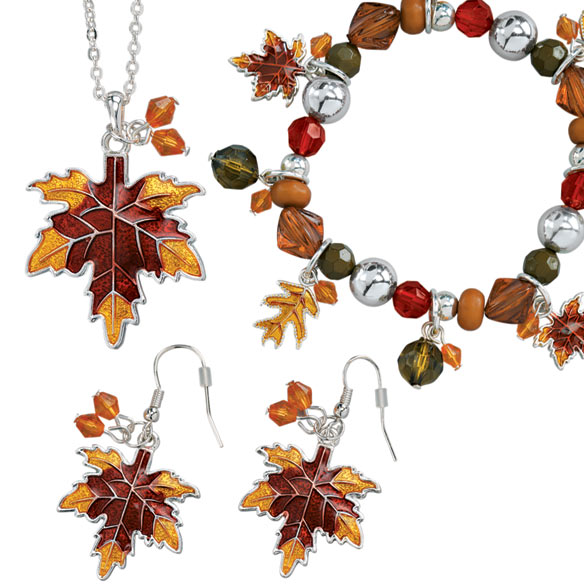 Autumn Leaf Jewelry - Set Of 3 - View 2