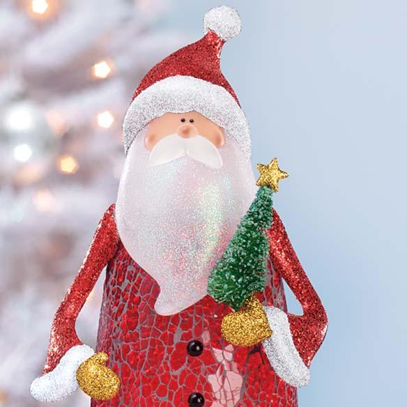 Crackle Glass Santa - View 2