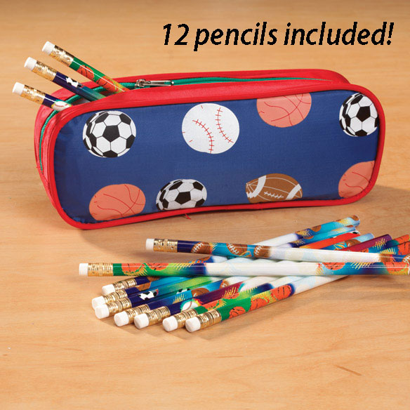 Personalized Sports Pencil Case Set - View 2