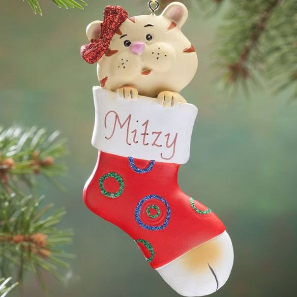 Personalized Kitten In Stocking Ornament - View 2