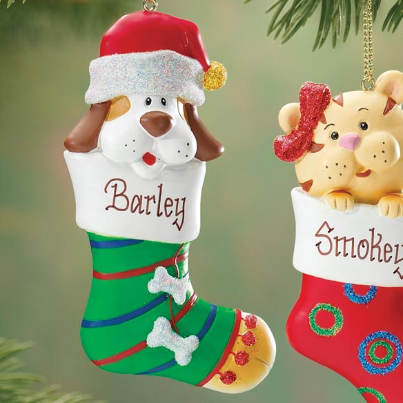 Personalized Kitten In Stocking Ornament - View 3