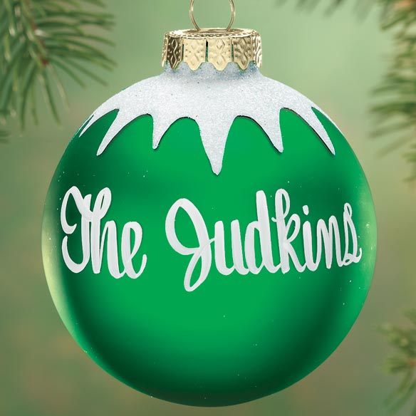 Personalized Merry Christmas Glass Ball Ornament - View 2
