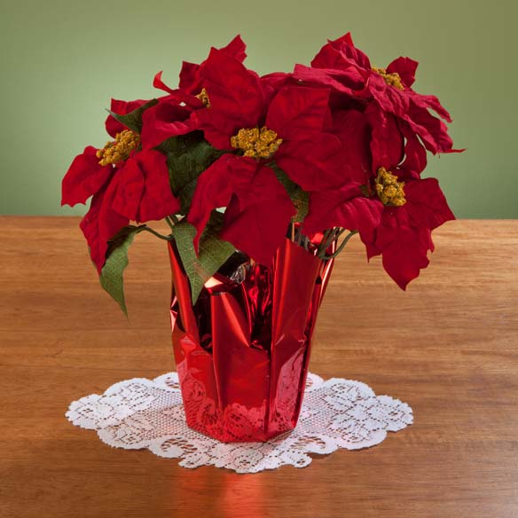 "Christmas Poinsettia 15"" - View 2"