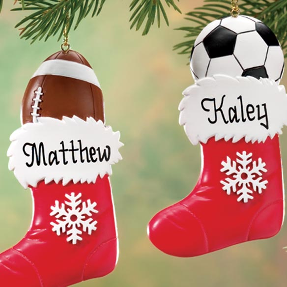 Personalized Sports Stocking Ornament - View 3