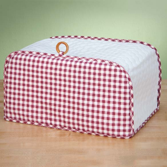 Gingham Appliance Cover Toaster Oven - View 4